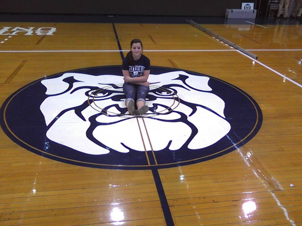 Ariana Henck On The Floor Of Hinckle Fieldhouse In 2010 Home Of Butler