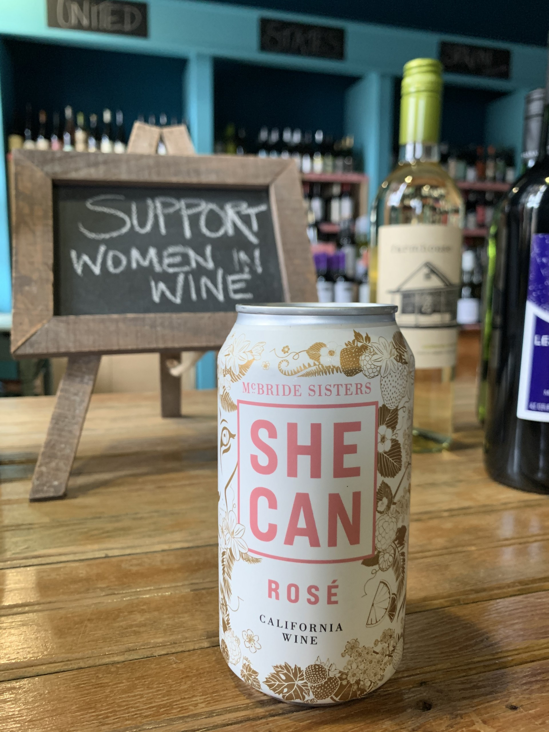 She can canned wine in Table Wine