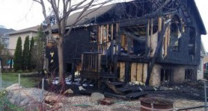 back of home is ruined by fire