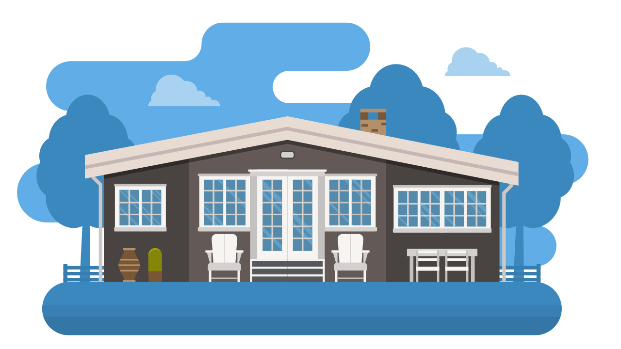 Illustraition of a Summer vacation home