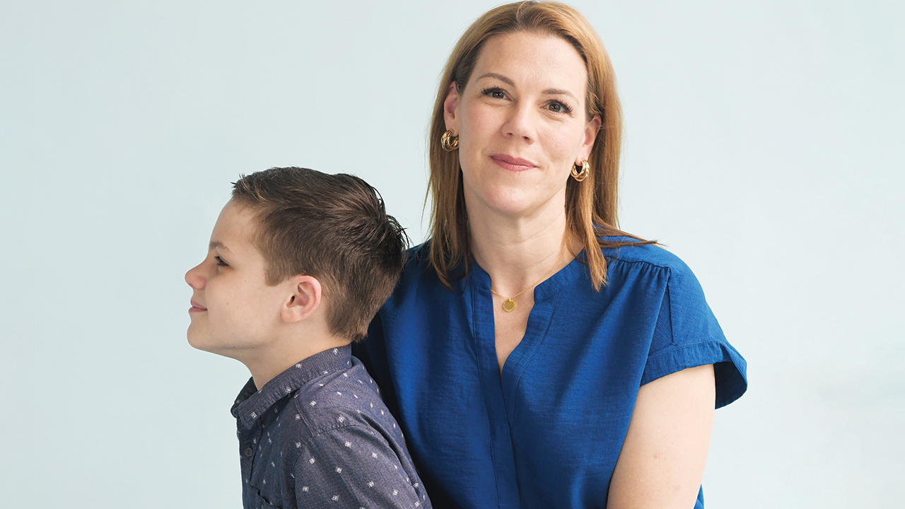 Jenny Price with her son
