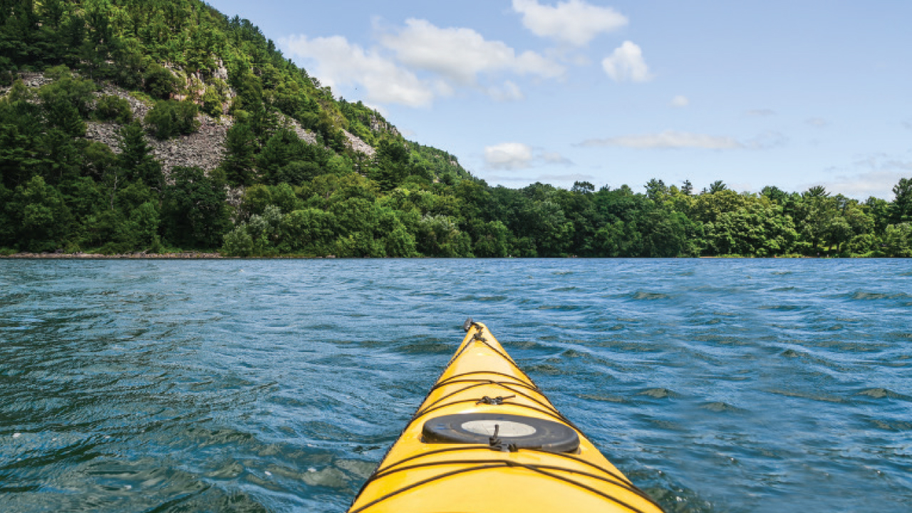 Kayak on the water