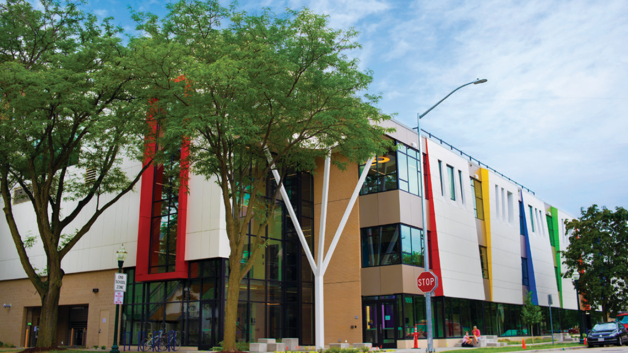 exterior of Madison Youth Arts Center