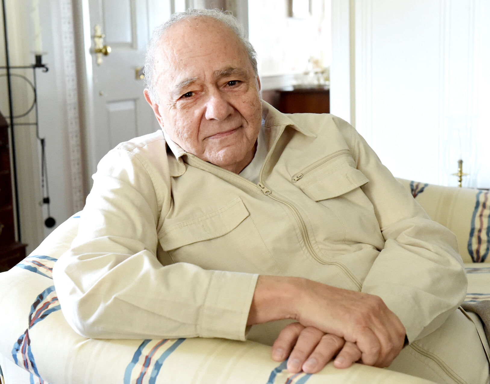 <p>Actor Michael Constantine at his sister's home in Reading.</p>