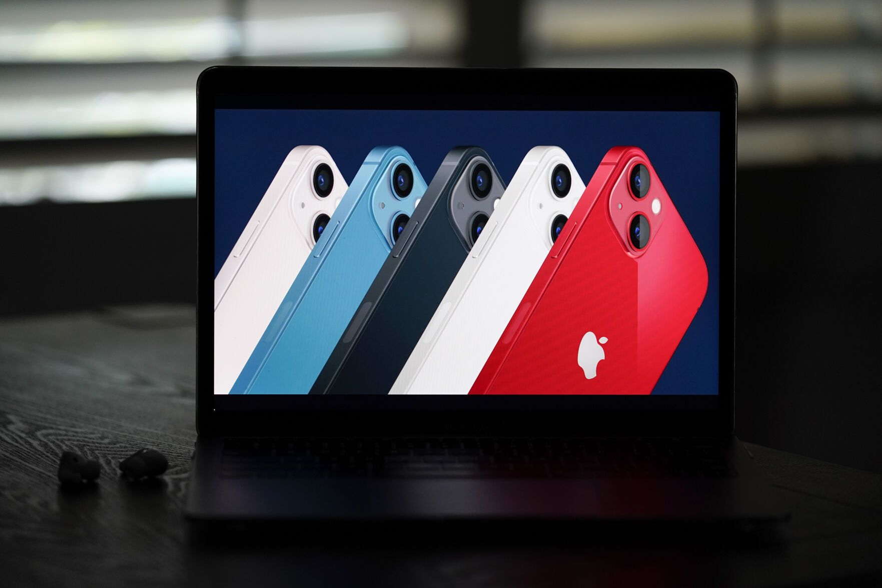 <p>Seen on the screen of a device in La Habra, Calif., new iPhone 13 smartphones are introduced during a virtual event held to announce new Apple products Tuesday, Sept. 14, 2021. (AP Photo/Jae C. Hong)</p>