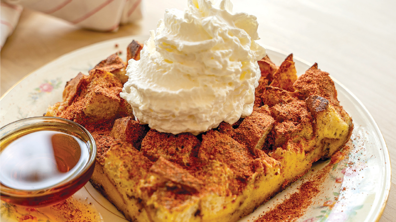 baked french toast from The Heights